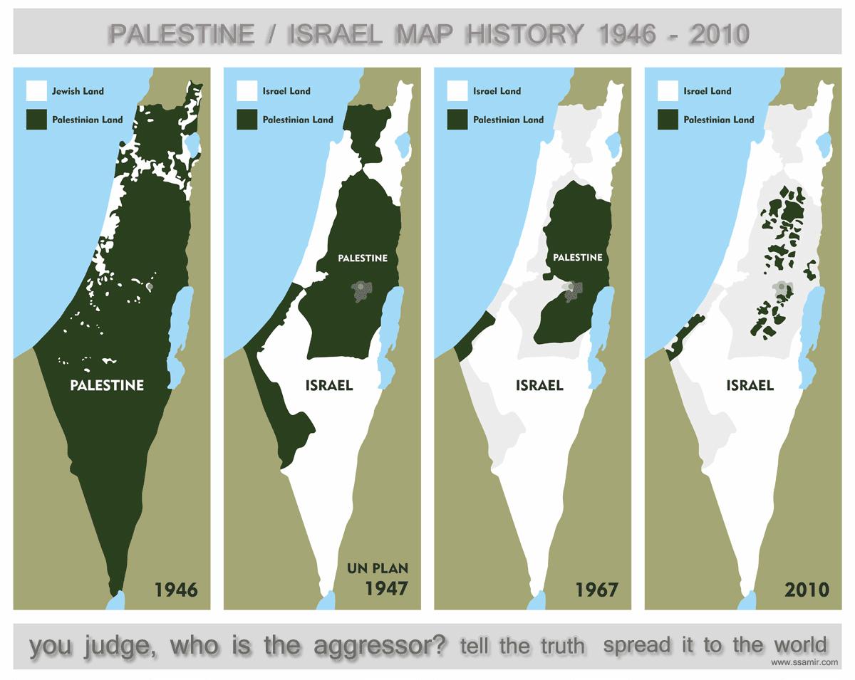 Israel Karte.Karten Zum Nahostkonflikt Palästina Israel