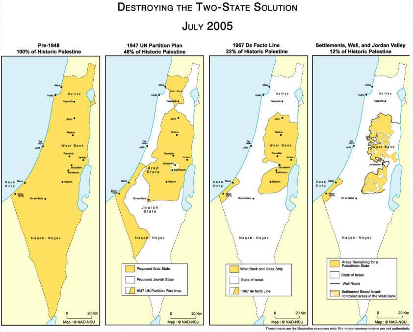 Nahost Karte.Karten Zum Nahostkonflikt Palästina Israel